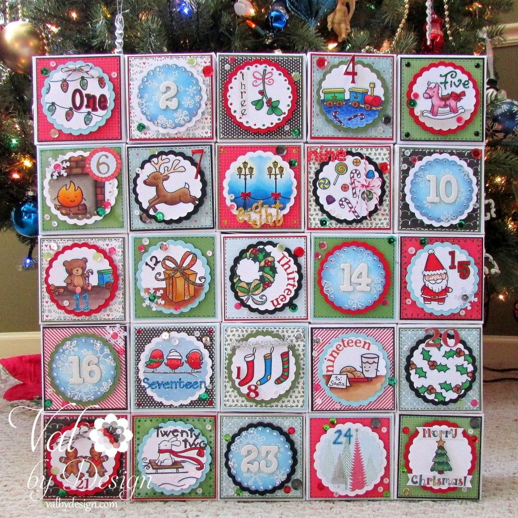 Lawn Fawn Winter Bog Hop - Advent Calendar This is amazing.  Used the Memory Keepers Gift Box Punch Board.