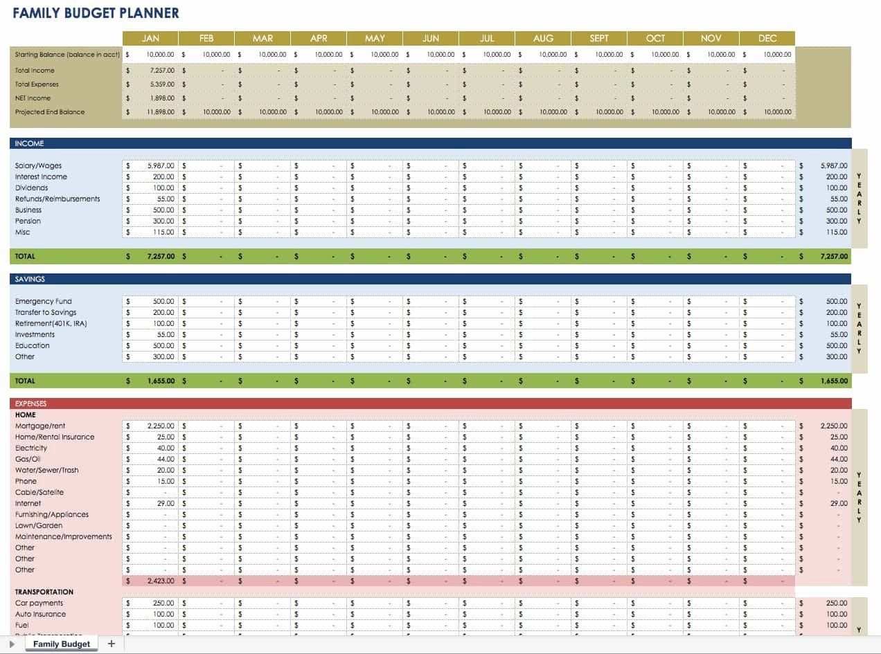 40 Monthly Budget Planner Template In