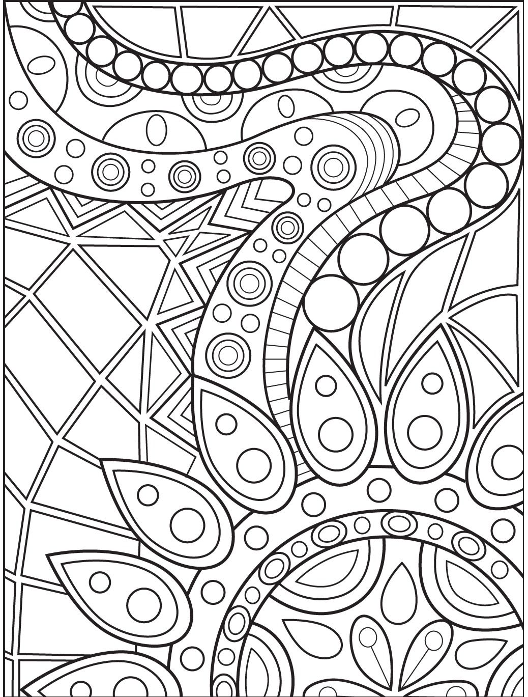 Abstract coloring page on Colorish: coloring book app for adults by  GoodSoftTech | Abstract coloring pages, Mandala coloring pages, Geometric coloring  pages
