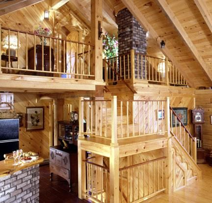 Ordinaire A Distinct And Compact Staircase In A Log Home
