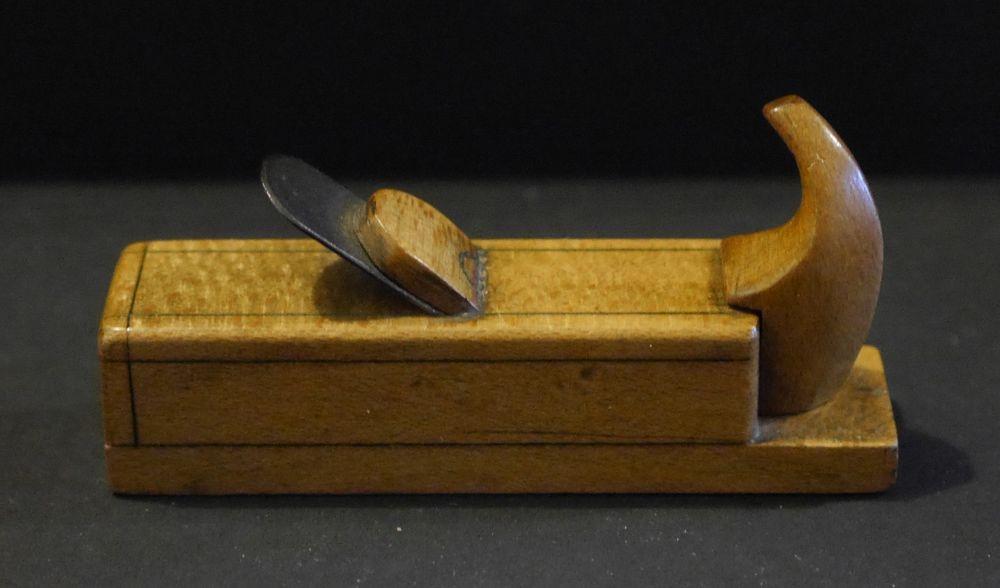 Victorian Treen Needle Case, Shape of Woodworking Plane
