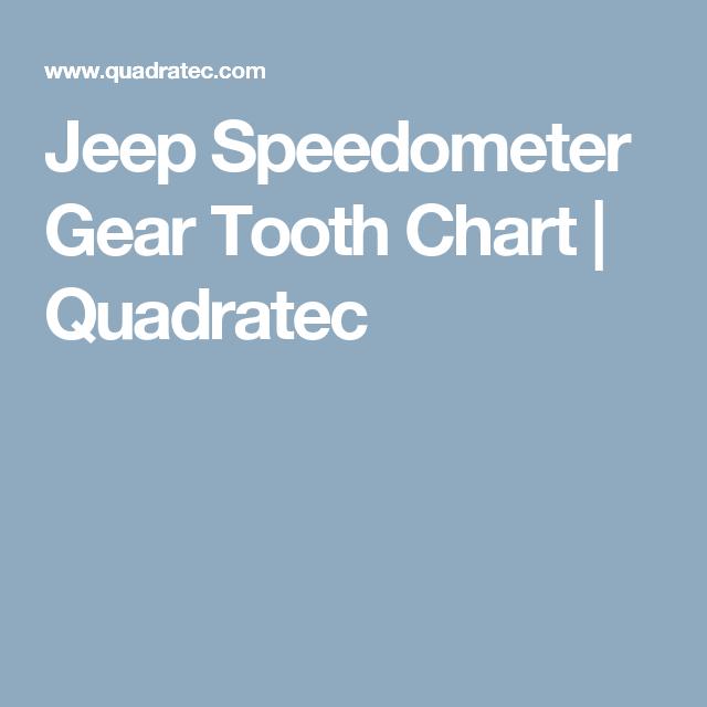 Jeep speedometer gear tooth chart quadratec also my ideas rh pinterest