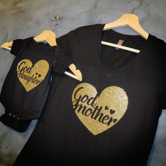 Regalo Para Ahijada.Godmother Goddaughter T Shirt Package Godmother Gift