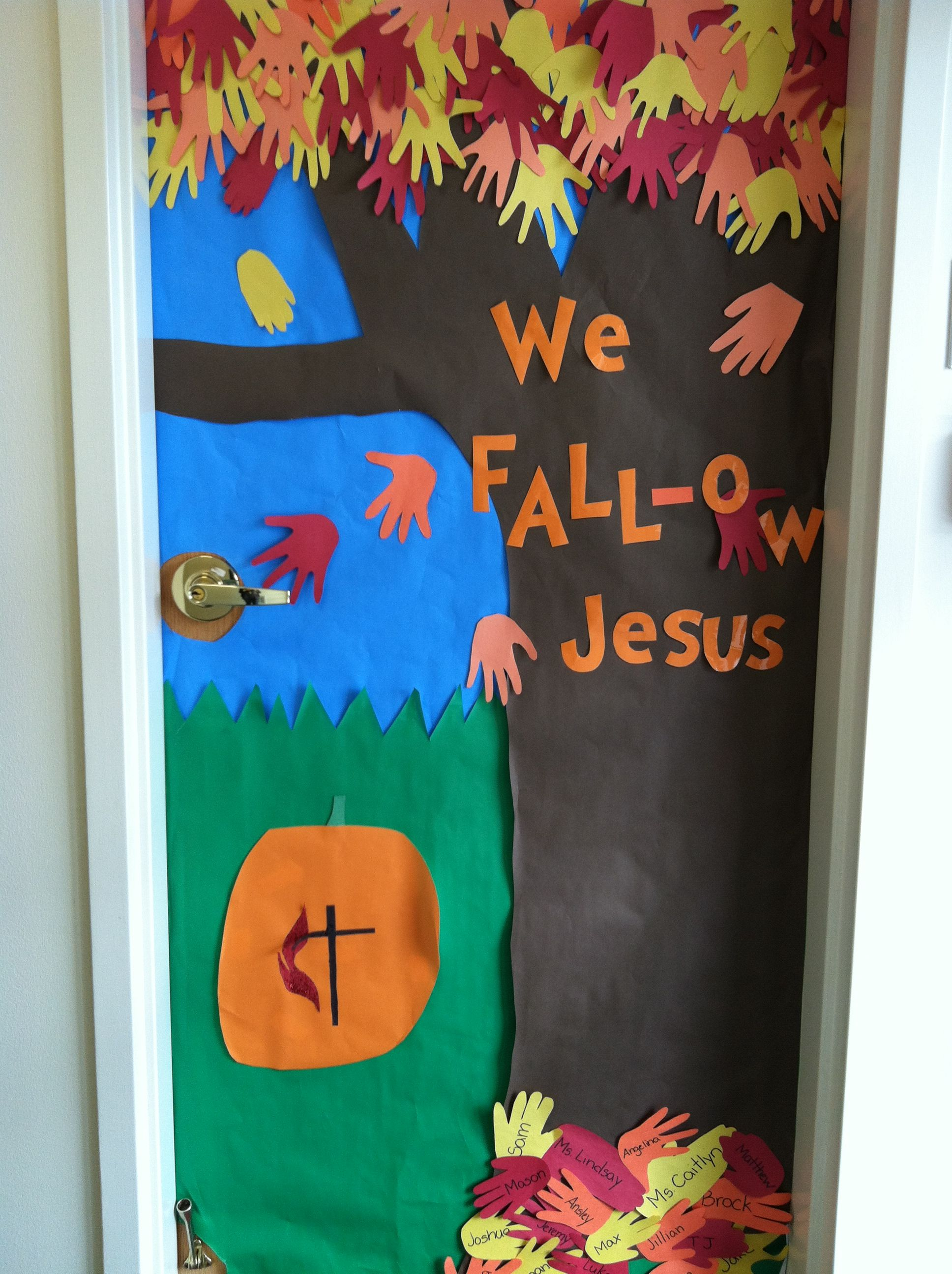 Our end result for the door decorating contest at school! School - Halloween Classroom Door Decorations