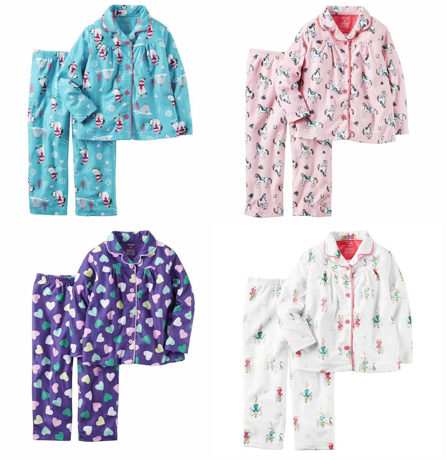 b50f04ba4b19 Sleepwear 147215  Nwt  30 Carter S Toddler Girl 2-Piece Button-Front ...