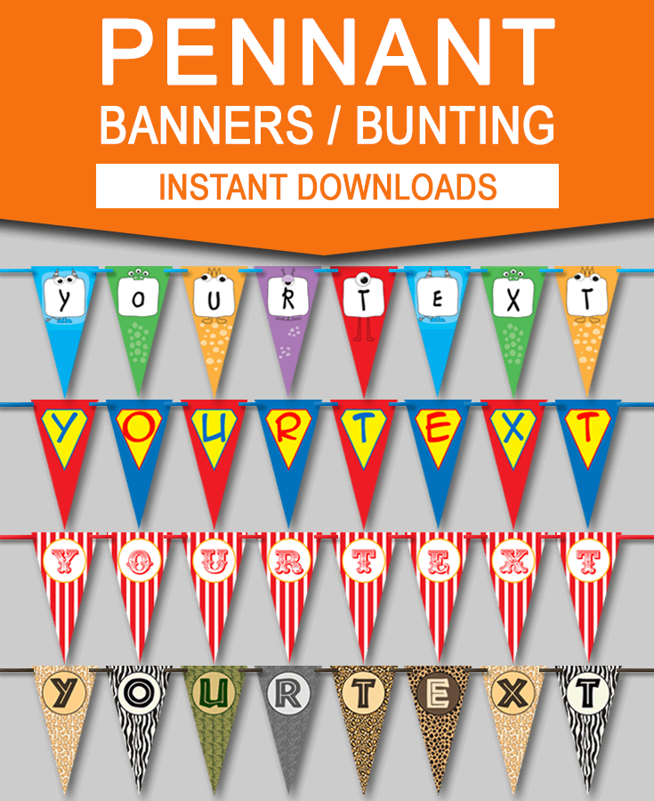 Diy Pennant Banner Templates  Pennant Banner Template Pennant