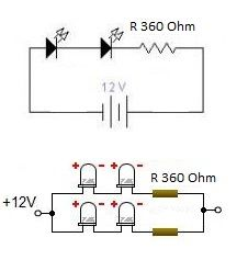 Simple Led Lights Circuit For Motorcycles Electronics Circuit Electronics Basics Electronics Mini Projects