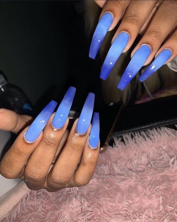 Pin By Janayah Strachan On Dem Grabbas In 2020 Blue Acrylic Nails Acrylic Nails Pretty Acrylic Nails