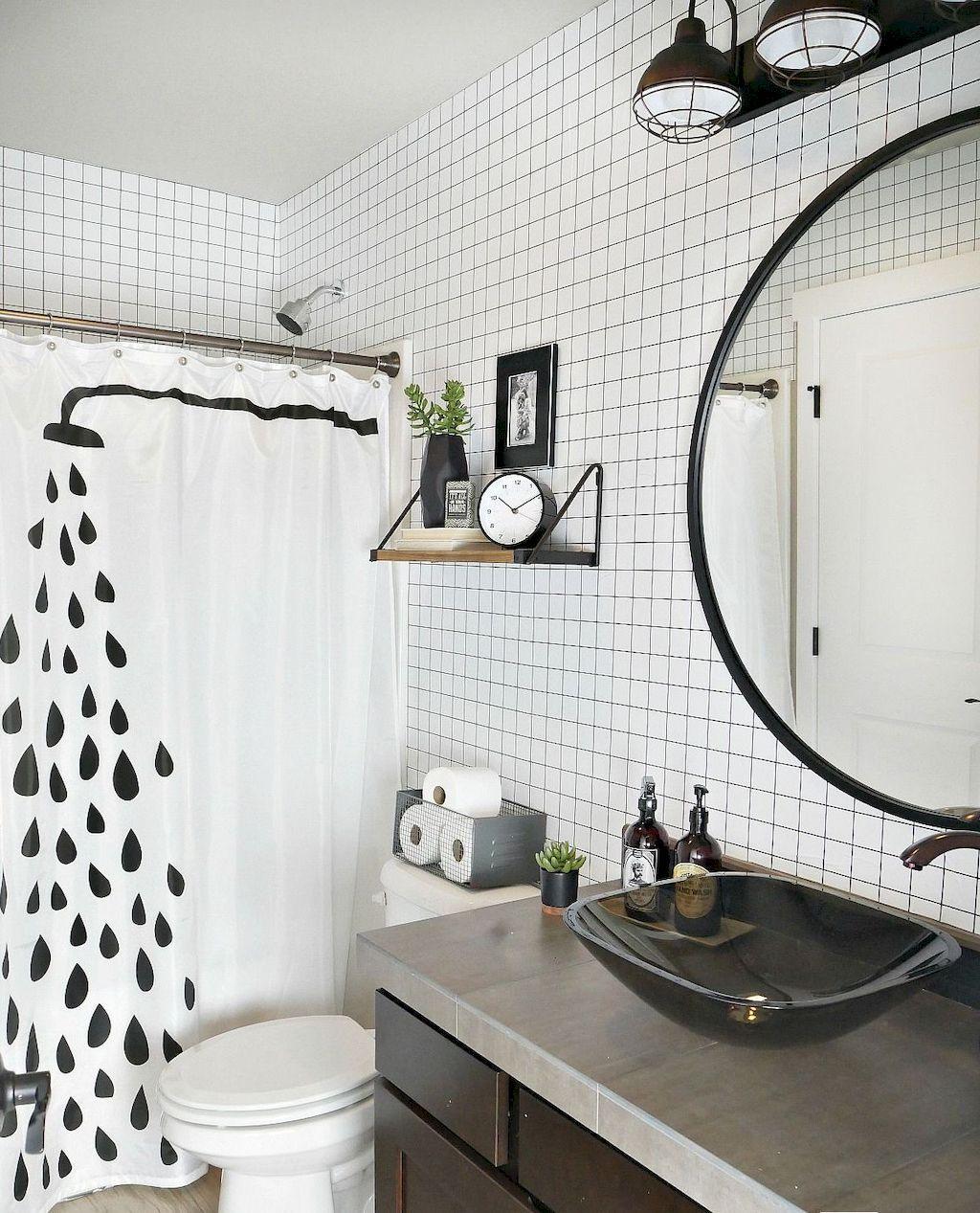 93 cool black and white bathroom design ideas fall