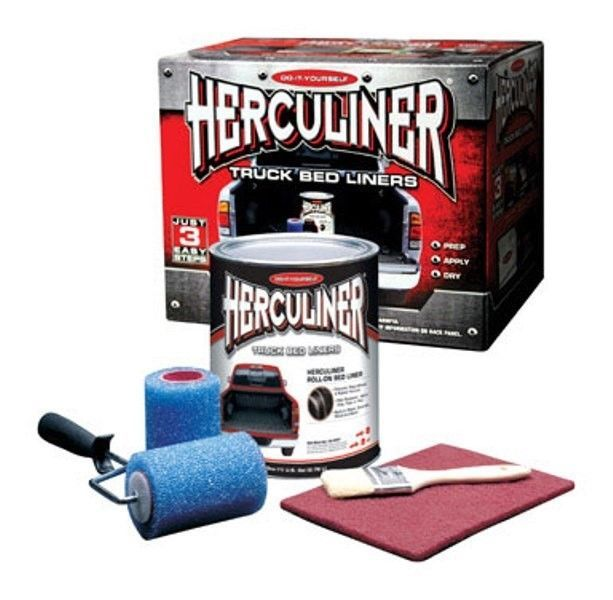 Herculiner Truck Bedliner Kit Black Roll On Kit Hcl0b8 Truck Bed Liner Truck Bed Liner Spray Bed Liner