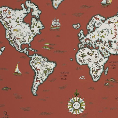 Expedition novelty spice childrens wallcovering products expedition novelty spice childrens wallcovering products ralph lauren home ralphlaurenhome world map wallpaperluxury gumiabroncs Images
