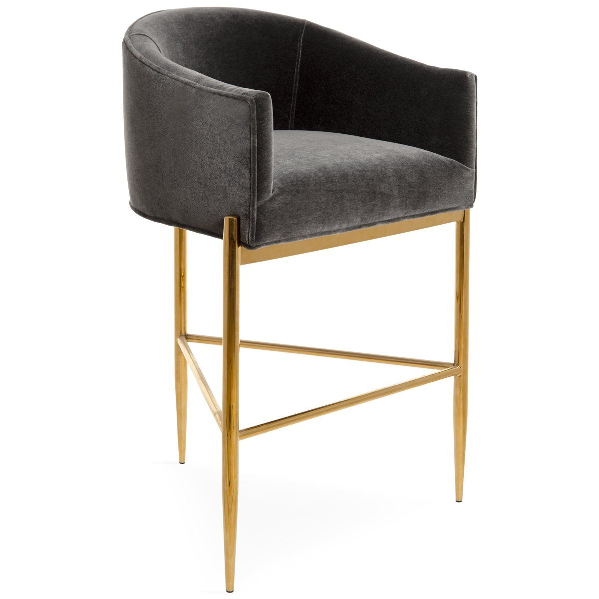 Art Deco Bar And Counter Stool In Mohair Counter Stools Art Deco Dining Chair Stylish Chairs