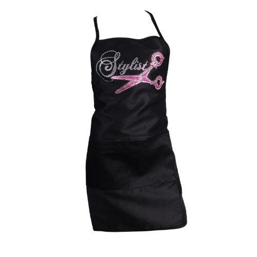 Womens Crystal Stylist Rhinestone Bling Salon Bib Apron Black Case Amazon Dp B00GXHJ7RQ Refcm Sw R Pi Mo3iwb195RJP4