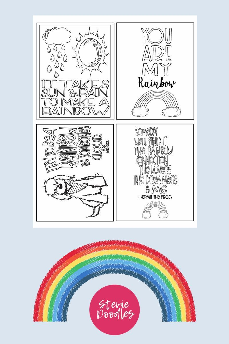 11 Free Printable Rainbow Coloring Pages Stevie Doodles Coloring Pages For Kids Coloring Sheets For Kids Free Printables [ 1200 x 800 Pixel ]