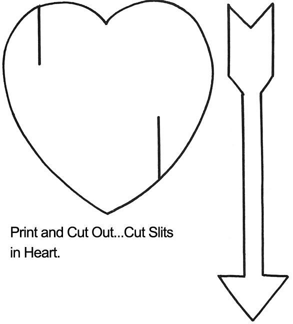 Heart with Arrow Template | Heart Crafts | Pinterest