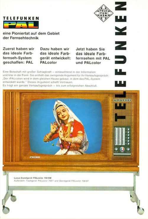 First Telefunken Palcolor Pal Color Color Tv 1967 Fernseher