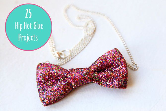 how to make a bow with hot glue gun