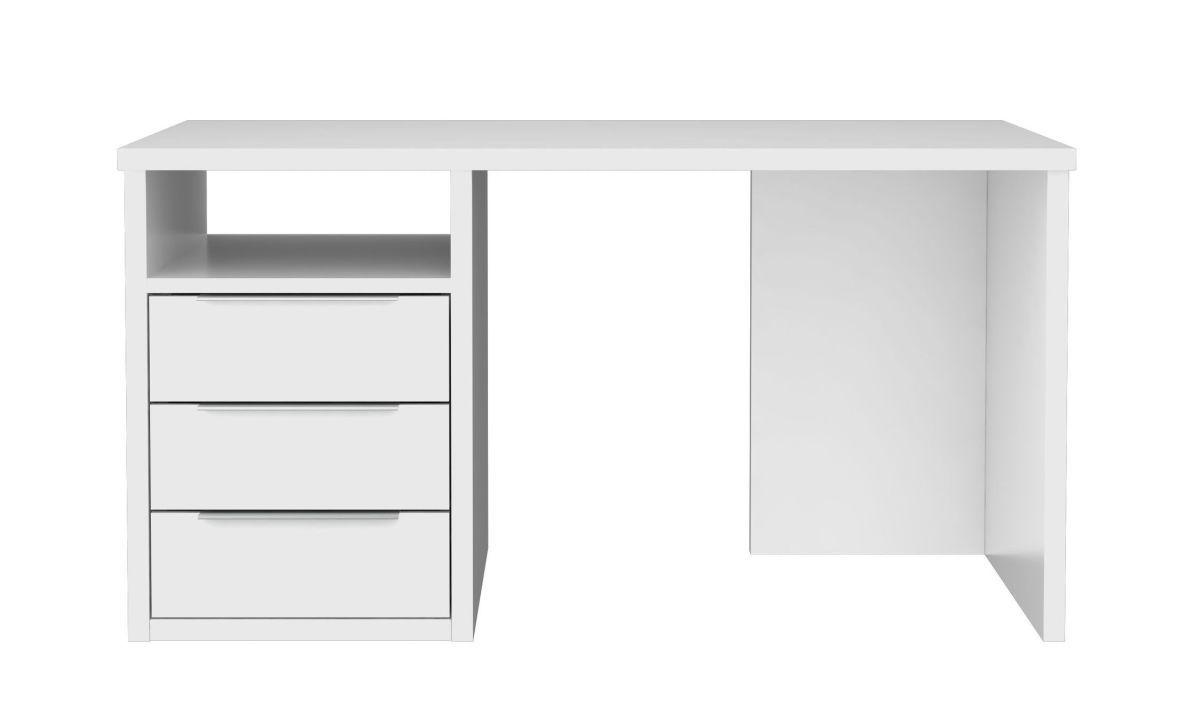 Eckschreibtisch weiß matt  Schreibtisch L Weiss Matt Woody 77-01223 weiss matt lackiert Holz ...