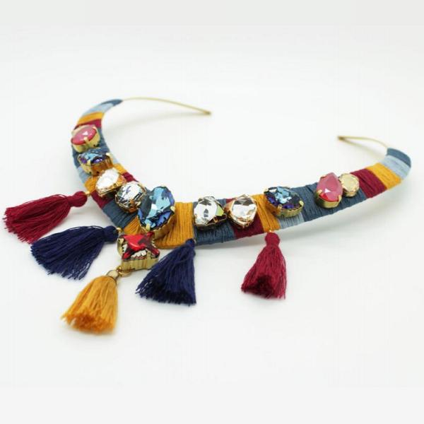 4be244c55c0c Tutoriel DIY  collier ethnique en cristaux Swarovski. Comment faire un  collier avec  cristaux
