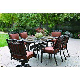 Grand Resort Osborn 9 Piece Rectangle Dining Set Featuring Sunbrella®  Fabric   Outdoor Living   Patio Furniture   Dining Sets | Pinterest |  Outdoor Living ...