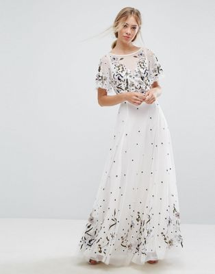 c9f2b6863cd French Connection Lucile Embroidered Maxi Dress
