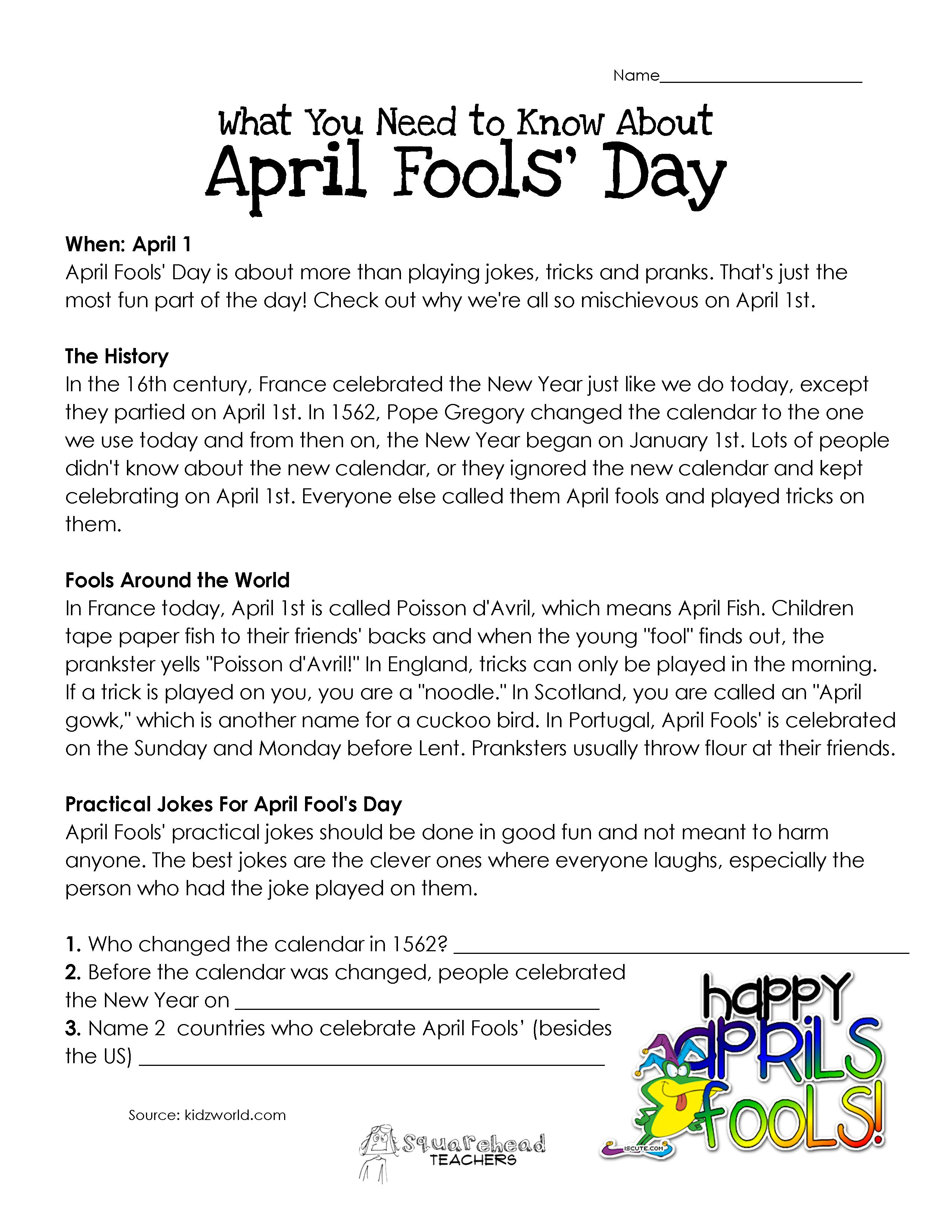 What You Need To Know About April Fool S Day