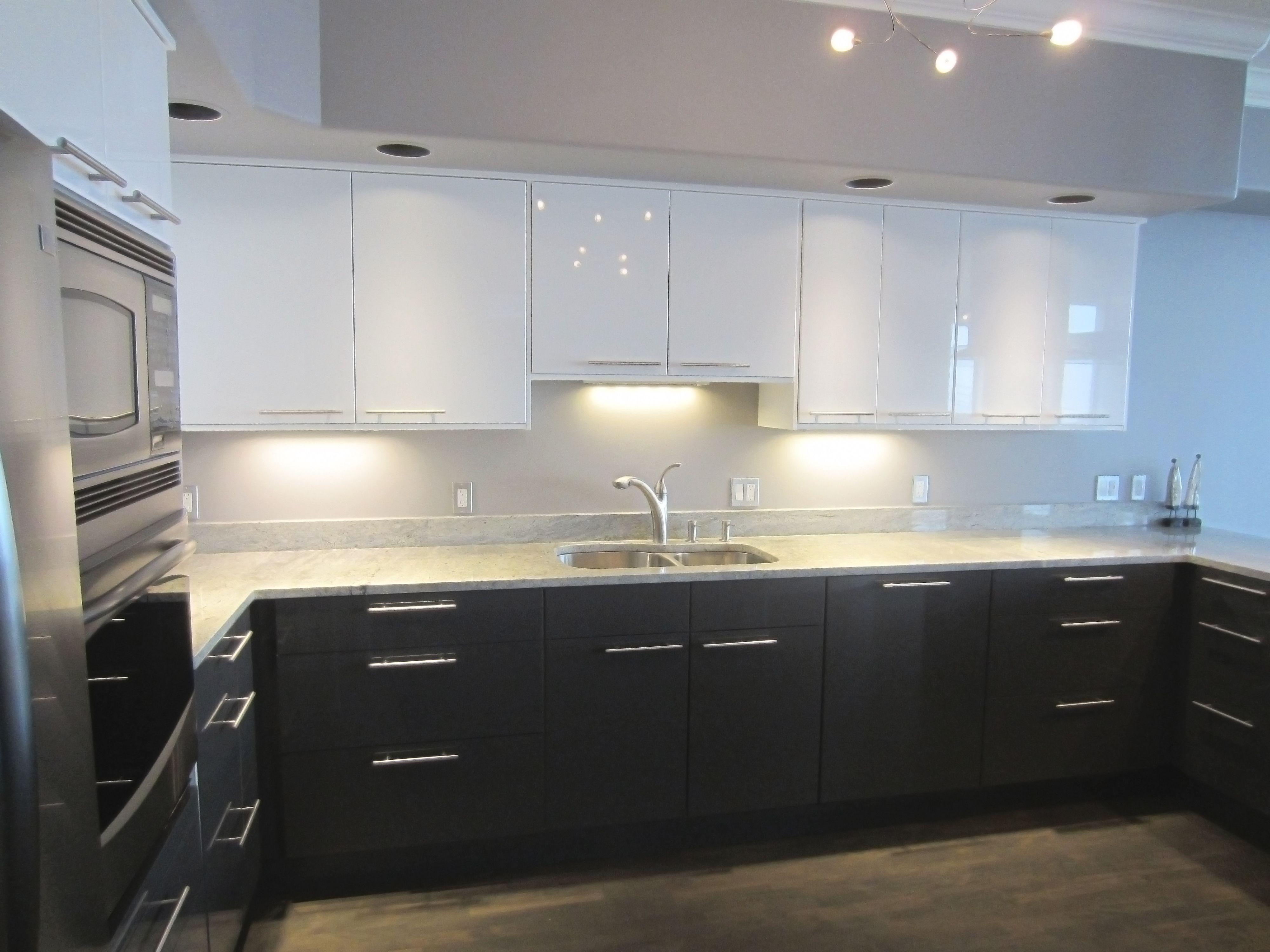 9 Beispiele Modernen Hochglanz Lack Küche Schränke Phantasie ...