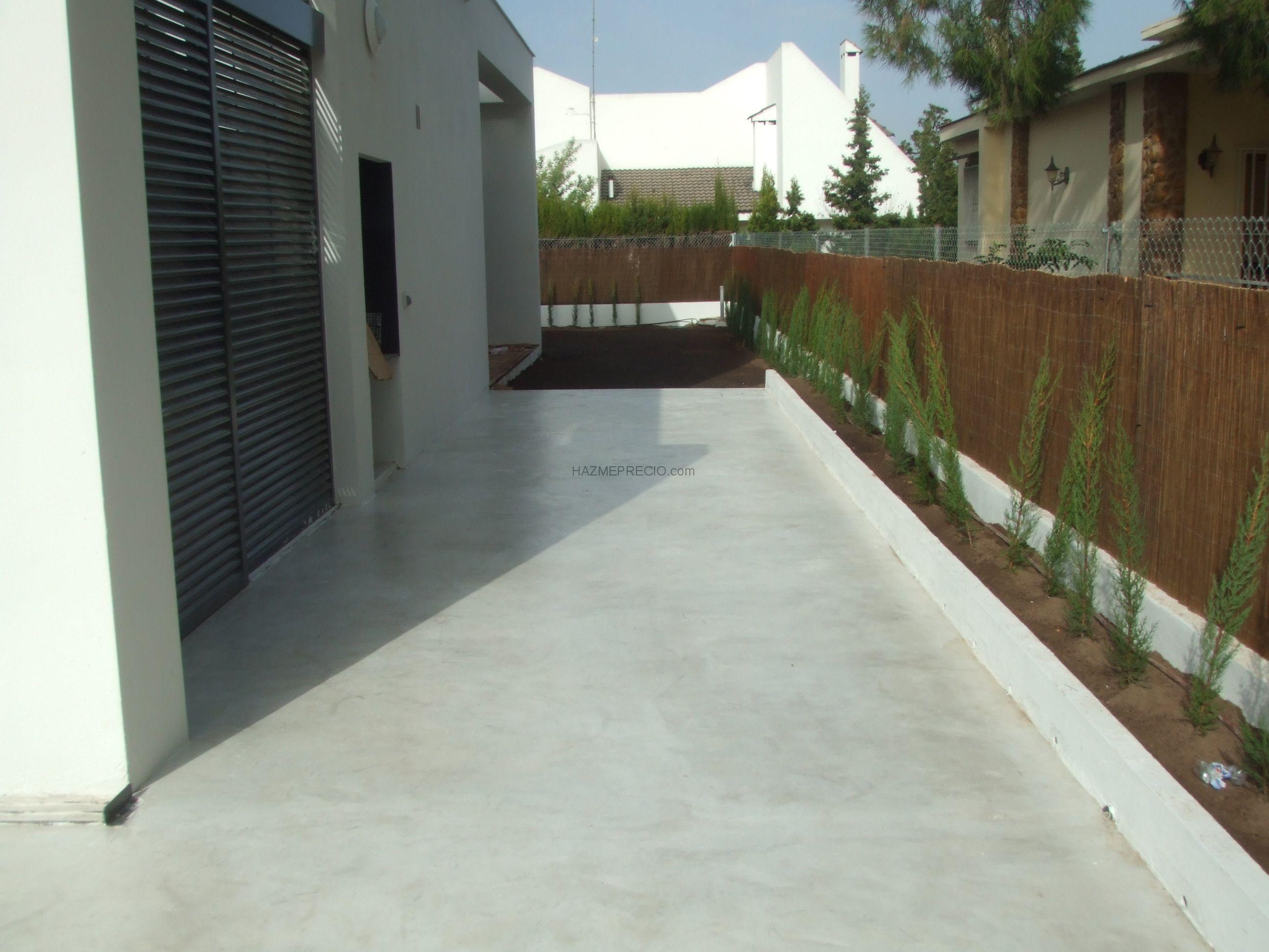 Pavimento continuo de exterior mortero de recrecido zona - Suelo terraza exterior precios ...