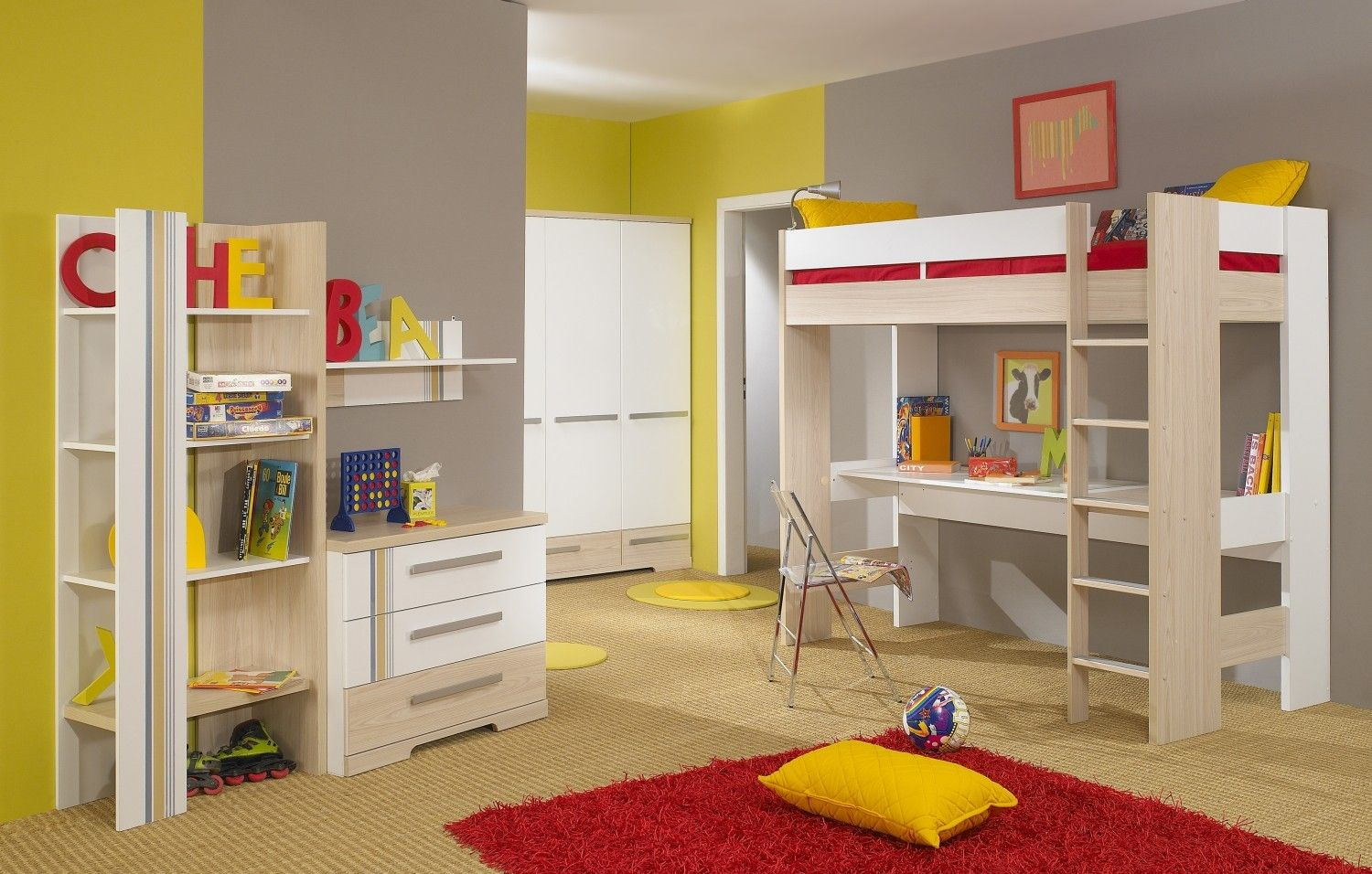 Loft bed desk ideas   Cool Bunk Bed With Desk Designs  Bunk bed Wooden frames and