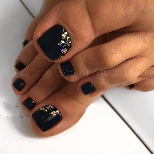 Black Toenailart Pretty Toe Nails Black Toe Nails Cute Toe Nails