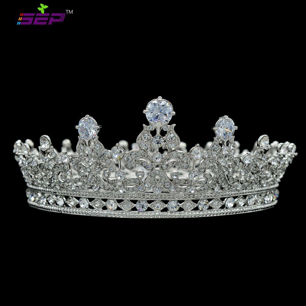 Baroque Wedding Bridal Princess Crystal Rhinestone Crown Tiara Headband 6A