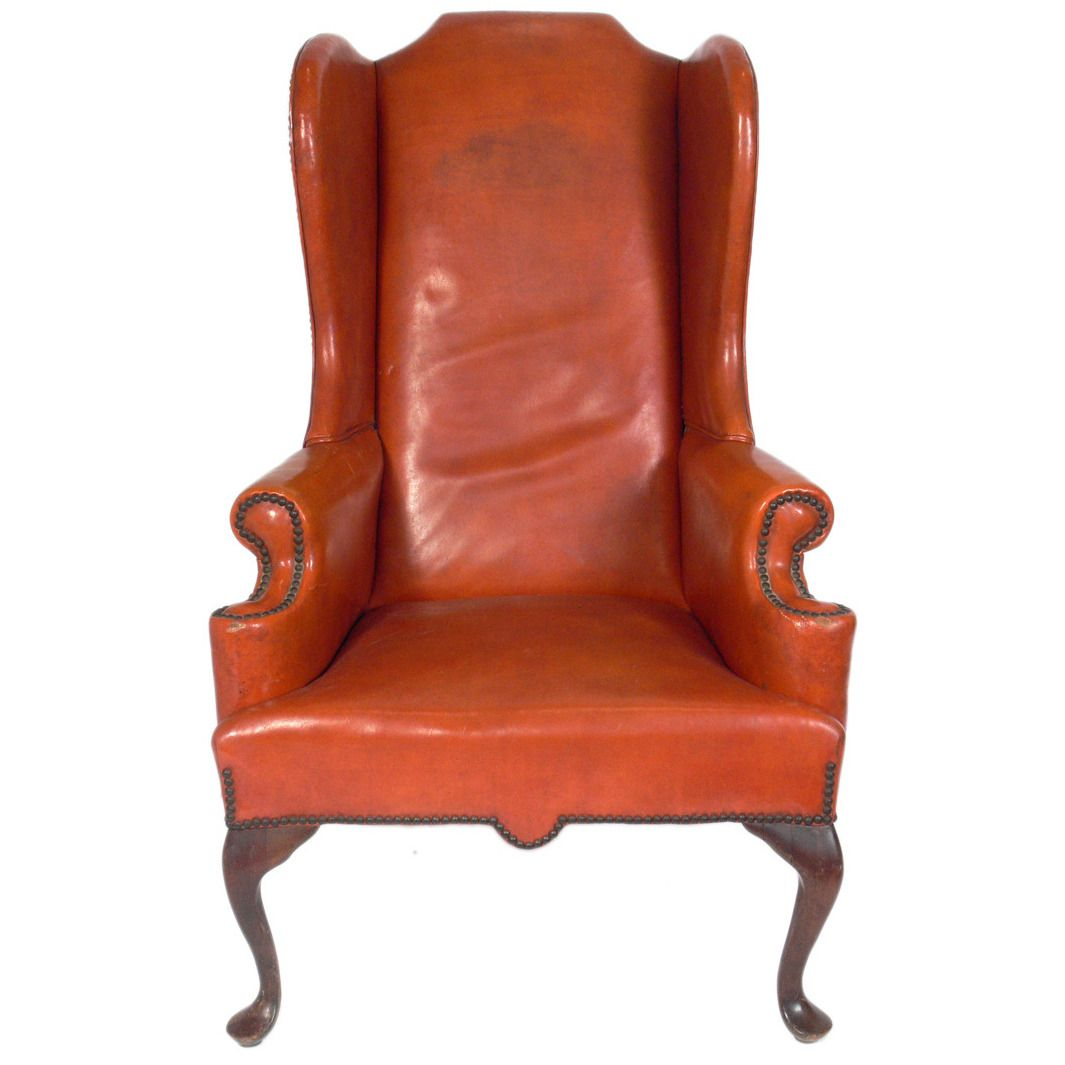 Best Cognac Leather Wingback Chair From A Unique Collection 640 x 480