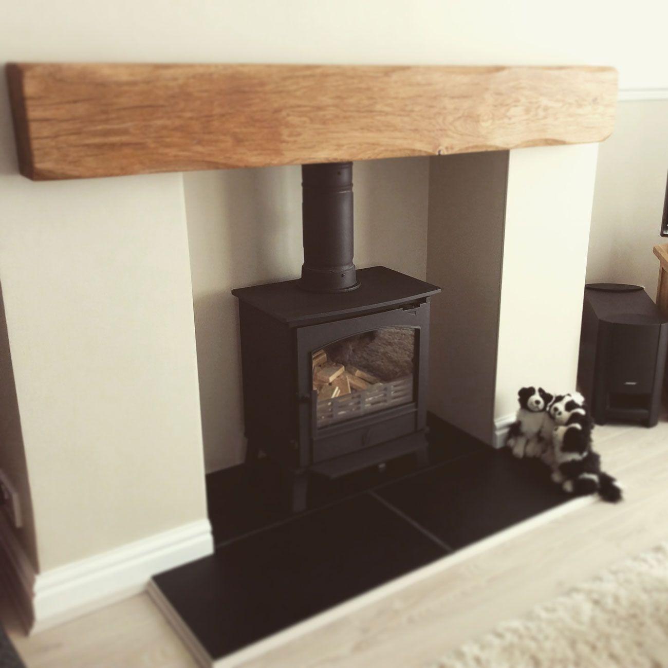 OAK BEAM FIREPLACE MANTLE Rustic Timber Shelf Mantelpiece with Brackets /& Oils