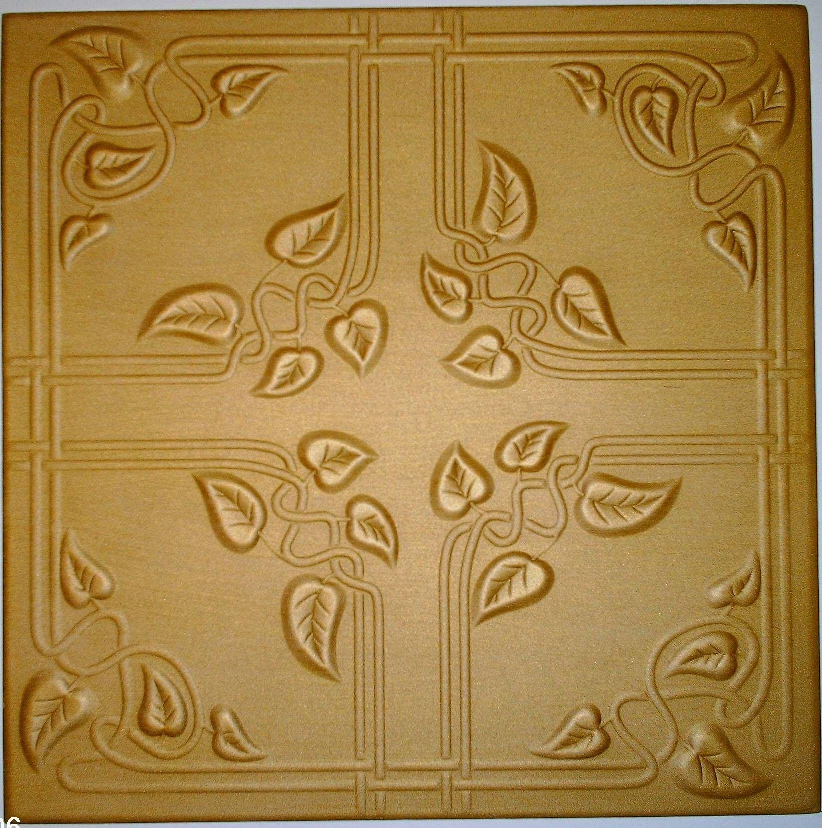Custom painted styrofoam ceiling tile looks just like real tin and ...