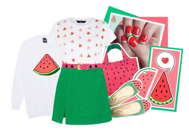 """Watermelon Nails Video!"" by nychicstyler ❤ liked on Polyvore featuring LOQI, Accessorize, Kate Spade, Isa Arfen, Louis Vuitton and Jack Black"