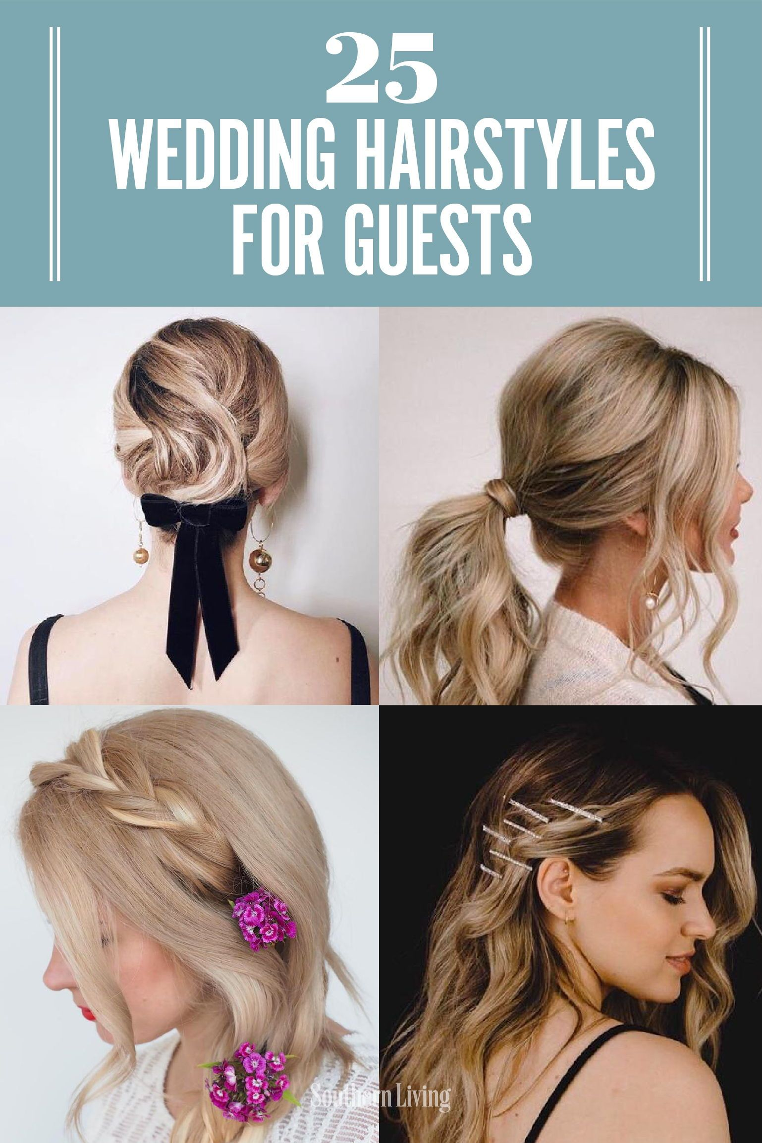 25 Easy Wedding Hairstyles For Guests That Ll Work For Every Dress Code Easy Wedding Guest Hairstyles Wedding Guest Hairstyles Hairdo For Wedding Guest