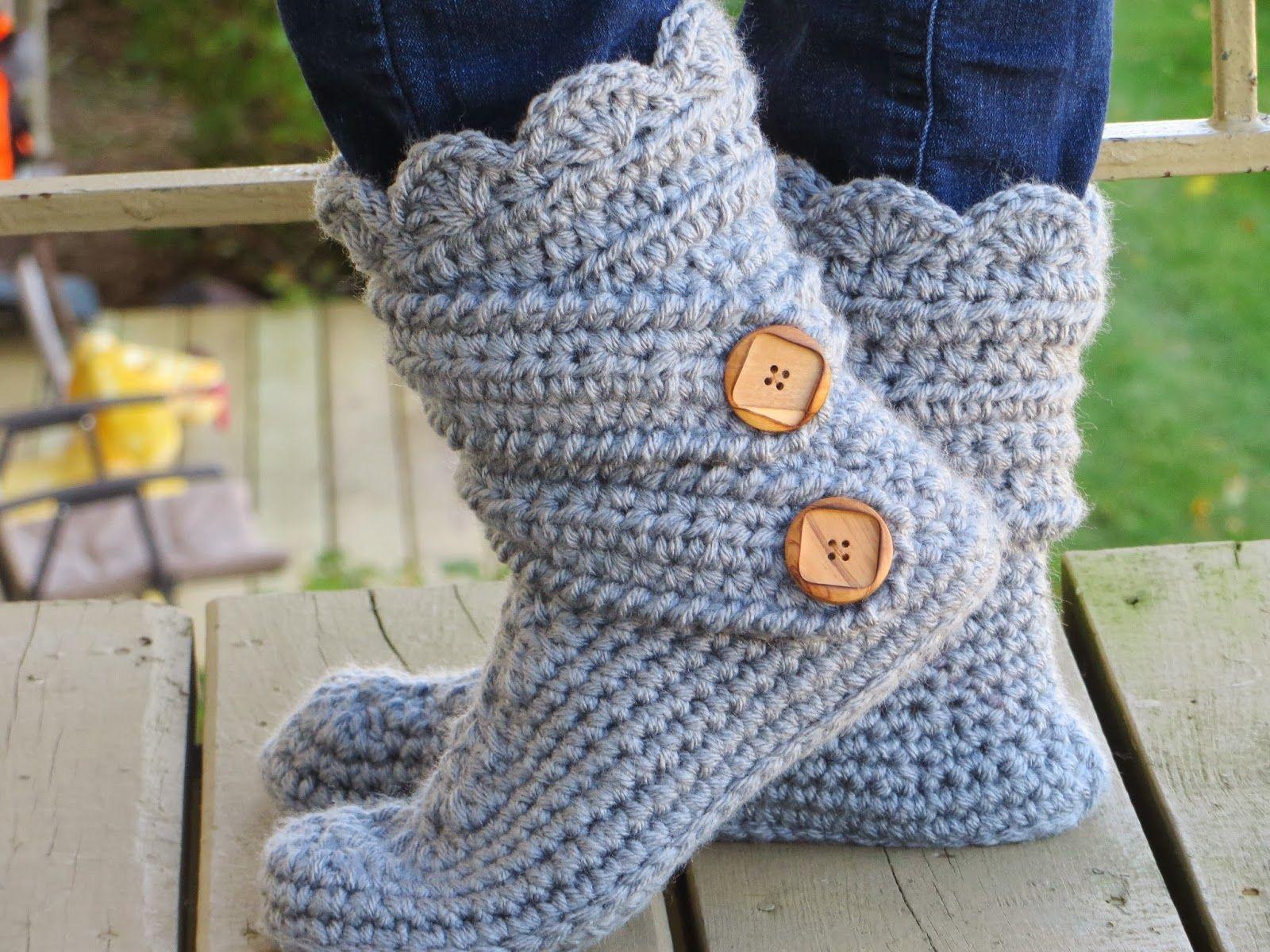 Brooklyn Boot Cuffs, Free Crochet Pattern | Slipper boots, Snow boot ...