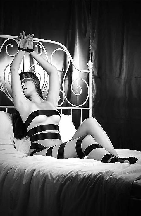 waiting to bed erotic cuffed