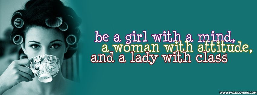 Be A Girl With A Mind A Woman Facebook Cover Humor