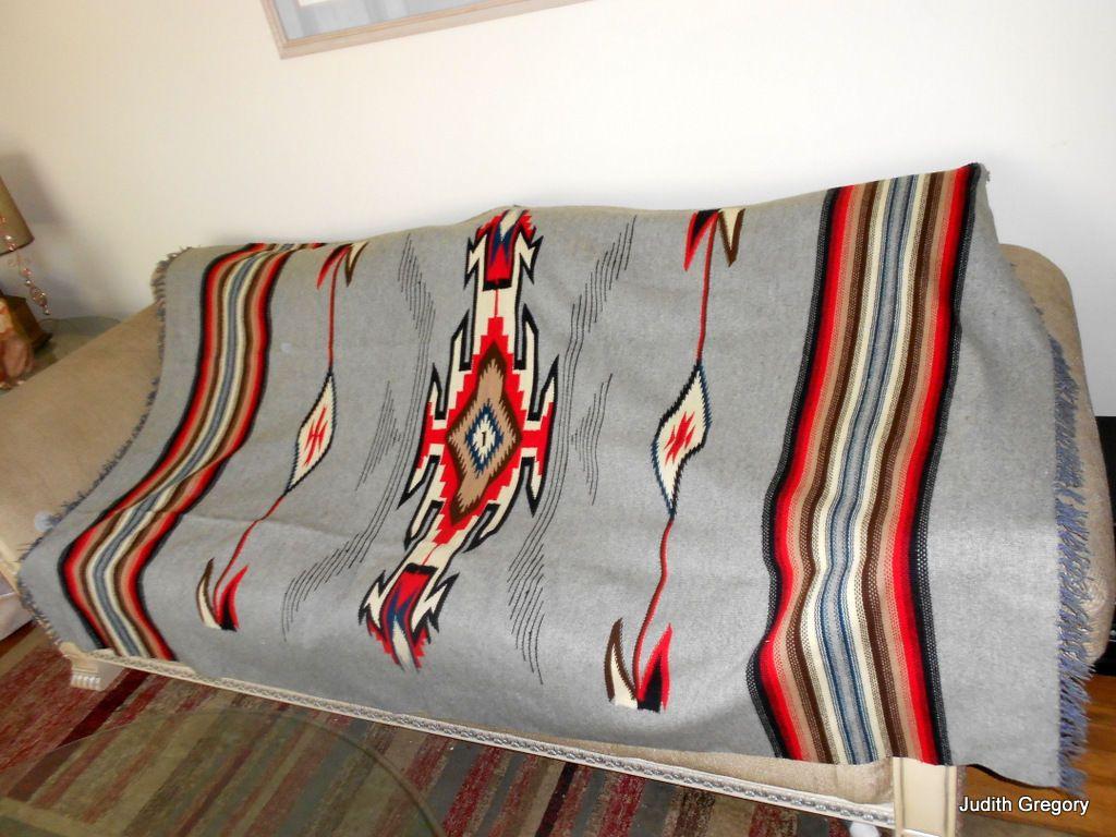 Vintage Chimayo Rug 7 X 4 4 Quot Native American Indian Wool