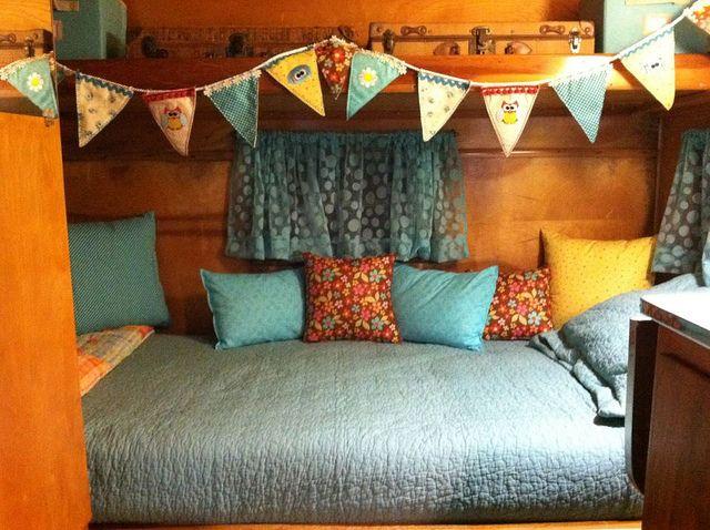 Bed Area In Frolic Vintage Camper Interior Interior Design Bedroom Vintage Caravan Interiors