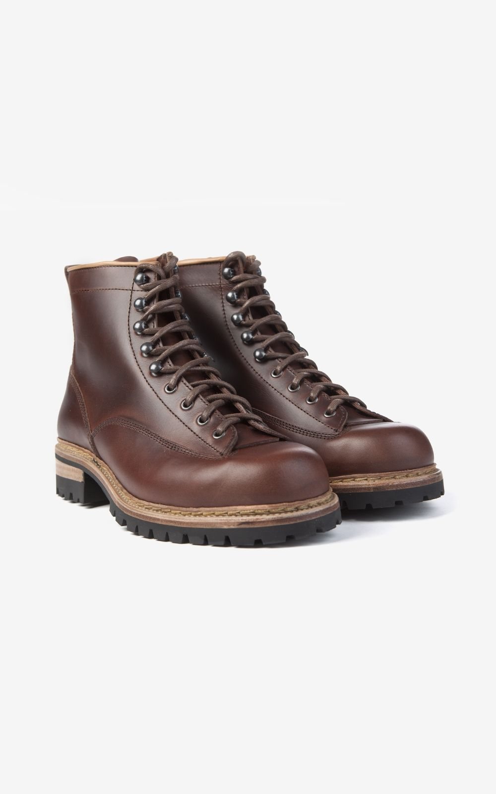 Pike Brothers 1946 Mountaineer Boots Bourbon Brown