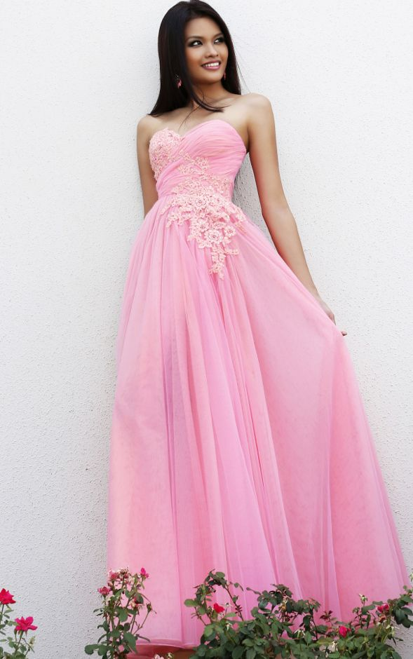 Tulle A-line Sweetheart Floor-length Prom Dresses | Pretty Prom ...