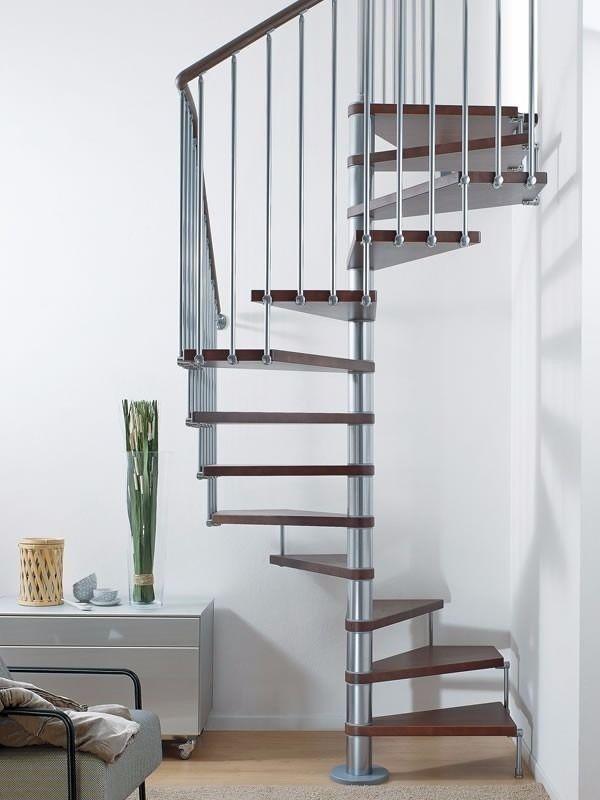 Arke Pixima Cube 54 5 16 Diameter Square Spiral Staircase Chrome
