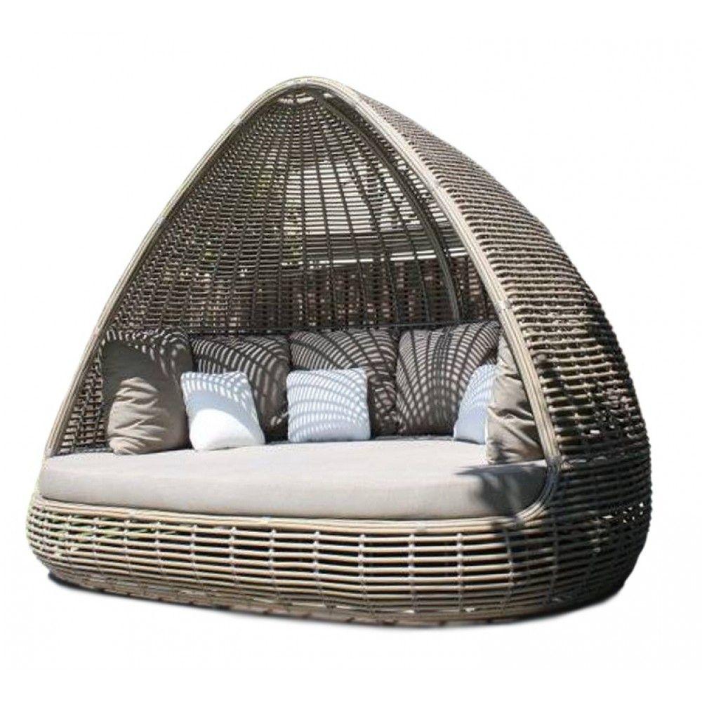 - Skyline Design Shade Kubu Mushroom Rattan Garden Daybed Posh