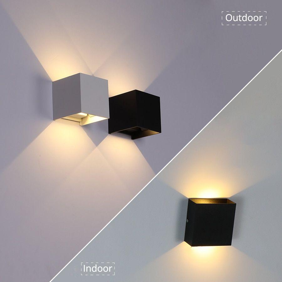 6w 10w Outdoor Indoor Waterproof Ip65 Porch Garden Wall Lamp In 2020 Wall Lights Indoor Lamp Wall Lamp