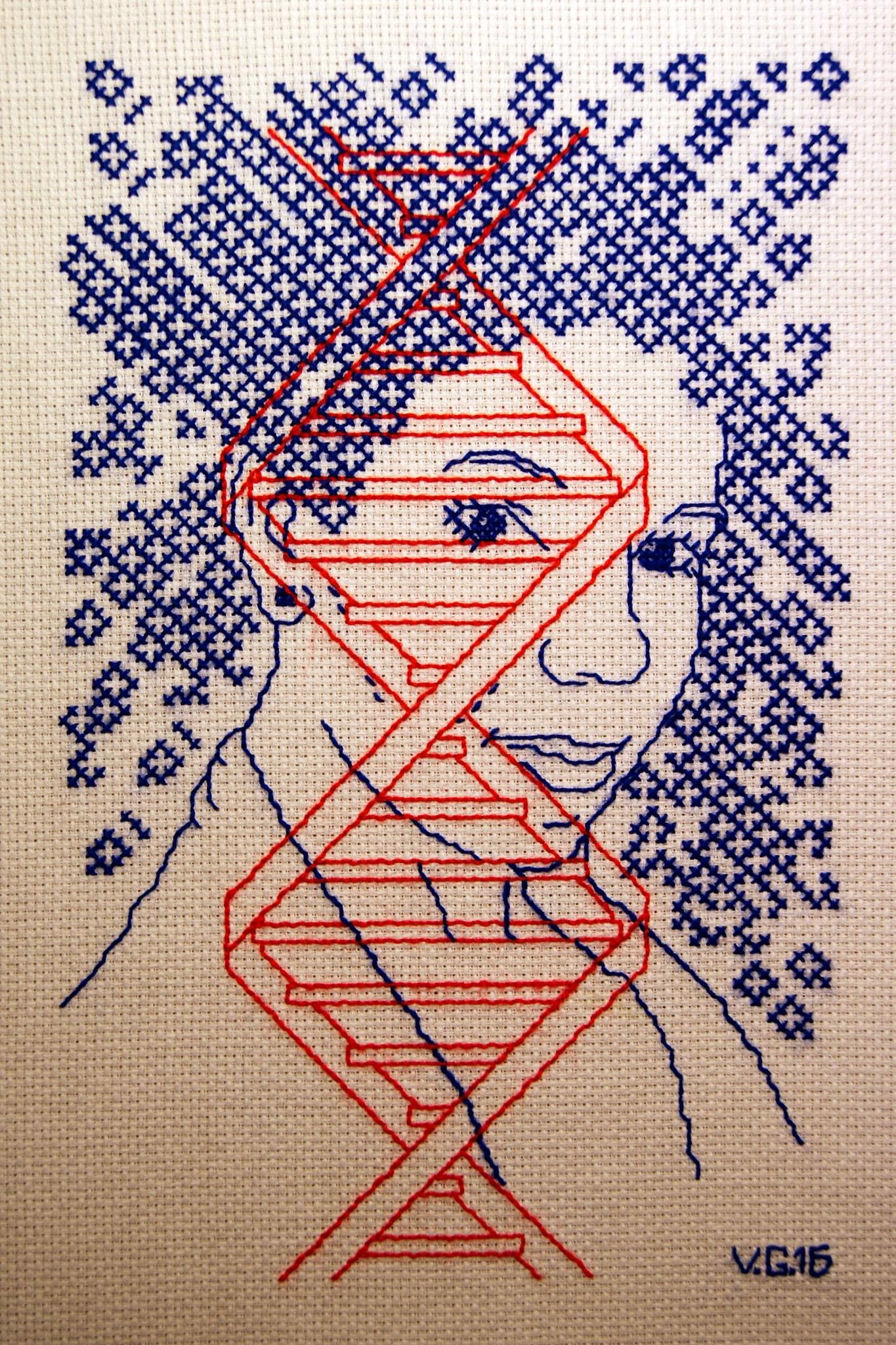 Cross Stitched DNA Sharon