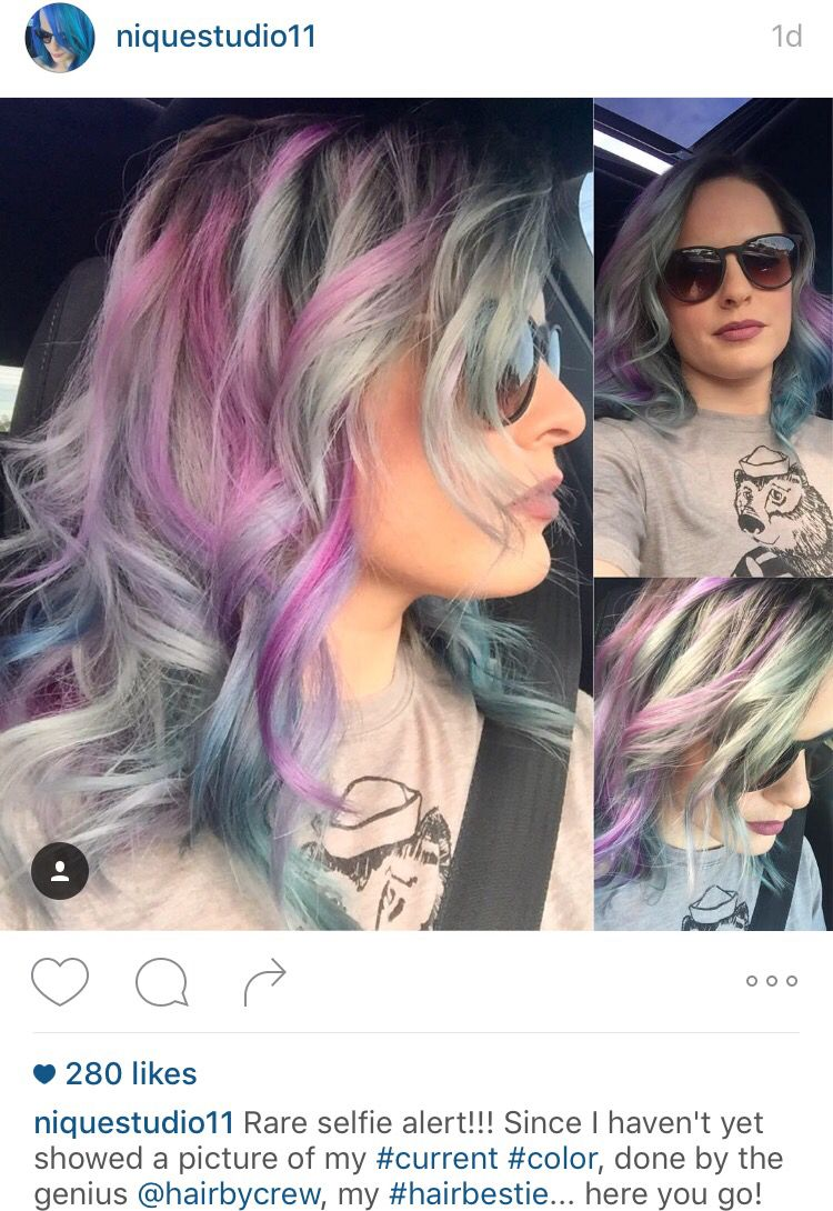 Pink Silver Gray Lavender Highlights And Lowlights Pastel Hair
