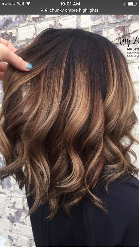 caramel ombre short hair