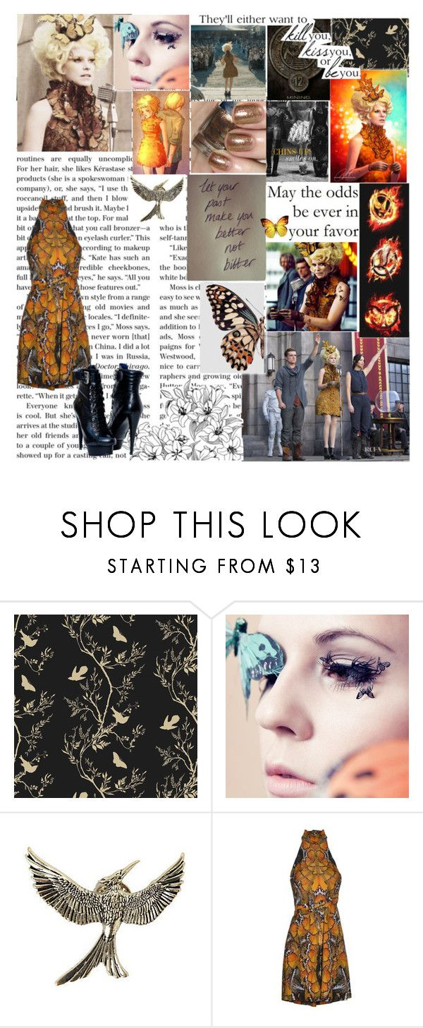 """Effie Trinket - The hunger games: catching fire"" by demolition-vampire ❤ liked on Polyvore featuring Timorous Beasties, Paperself and Alexander McQueen"